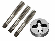 """HSS BSW TAP AND DIES 7/16"""" 14TPI, OD 1-1/2"""" HAND TAP SET- TAPER, PLUG &BOTTOMING"""