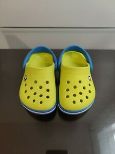 Crocs Toddler  Size C6 Yellow Blue Classic  Shoes Sandals Clogs Beach Pool