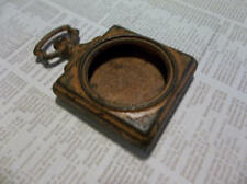 Small Open Metal Locket - Vintage Style Pocket Watch Pendant - Looks Old Rusted
