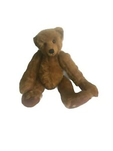 """Vintage 1999 Christy Rave Ganz Cottage Collectable Jointed Brown Teddy Bear 12"""""""