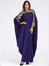 Abaya Womens Embroidery Dress Dubai Kaftan Muslim Long Maxi Loose  Islamic Robe
