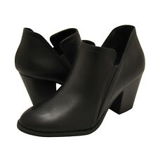 Women's Shoes City Classified COIN Slip On Ankle Booties BLACK PU *New*