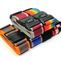 6 x Strong Adjustable Luggage Suitcase Lock Belt Strap Travel Baggage Tie Buckle