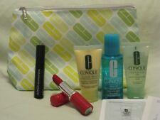 Clinique Set - Pop Lipstick 'Cherry Pop' Full Sz, Mascara, Cleanser, Moisturizer