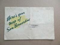 Vintage 1943 Map of San Bernardino County California Bank of America