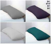 Long Bolster Pillow & Pillow Case - Body Pillow Neck Support 3Ft, 4Ft6, 5Ft, 6Ft