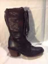 Bertie Brown Mid Calf Leather Boots Size 39