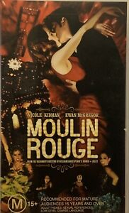 Moulin Rouge VHS Nicole Kidman Ewan Mcgregor 2001 Special Edition Baz Luhrmann