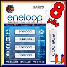 8 BATTERIE RICARICABILI PILE MINISTILO SANYO ENELOOP AAA 750mAh Pila batteria