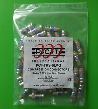 (10 Bags of 50) PCT-TRS-6LMG RG6 Compression Connector - 500 PCS