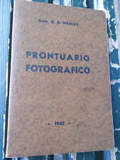 """901B - PRONTUARIO FOTOGRAFICO """"IL PROGRESSO FOTOGRAFICO"""" 1942"""