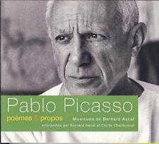 BERNARD ASCAL - PABLO PICASSO : POEMES & PROPOS (COFFRET 2 CD, NEUF)