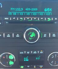 2007-2013 GMC YUKON RADIO AND AC BUTTON PACKAGE OF DECALS
