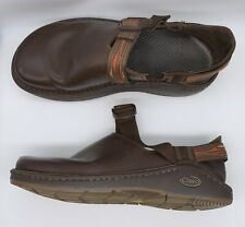 Chaco Pedshed Brown Leather Closed Heel Clog Mule Comfort Vibram Sole Men 8.5Euc