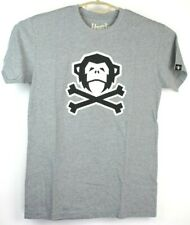 Howler Bros Mens T Shirt Skull and Cross Bones Gray Size Small