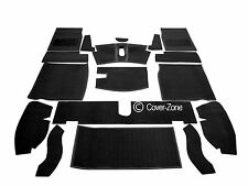 Carrelli Interior Car Carpet Set Black for Austin-Healey Sprite S0091F2