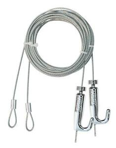 VISTO CABLE HANGING KIT WITH HOOK 2.5M LENGTH BRAIDED CABLE ADJUSTABLE X 2PCS