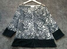 Sheer animal print crochet hem cardigan by Clarity, Sz XL, VGUC