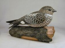 Hummingbird Studio--Common Nighthawk Original Carving