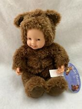 Anne Geddes Plush Baby Bear Bean Filled Vinyl Face and Hands Brown 525911