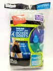 Hanes Mens Tagless Cool Dri Odor Protection Short Leg Boxer Briefs Underwear 2XL