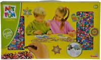 SIMBA 106374146 - Art & Fun 10.000 Bügelperlen  Creativ Set Perlen Bügeln