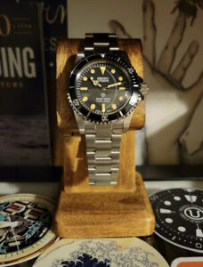Seiko Mod 5513 Submariner Homage Automatic Vintage Style Dive Watch Nh35