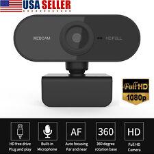 1080P Hd Webcam Usb Computer Web Camera Pc Laptop Desktop Video Cam w Microphone