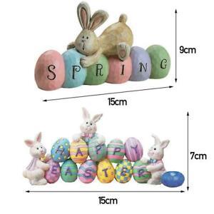 Easter Eggs Bunny Pendant Colored Hangable Ornament Decoration Party Home E0W6