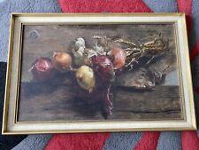 Ölbild Gemüse Antik