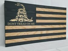 "36"" Dont Tread On Me Gadsden Flag Gun Concealment Cabinet Hidden Firearm Storage"