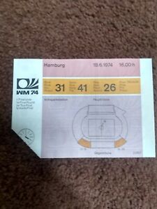 1974 FIFA World Cup West Germany 06/18 Group 1 game ticket Australia-W. Germany