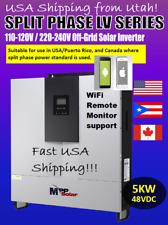 Off-Grid 5000W 48V 120/240 Single/Split Phase Inverter PIP-LV5048 Hybrid 7-in-1