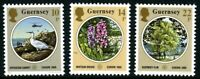 GUERNSEY 1986 EUROPA ENVIRONMENTAL PROTECTION SET OF ALL 3 COMMEMORATIVE STAMPS