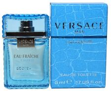 Versace Eau Fraiche 0.17oz/5ml Edt Splash Mini For Men New In Box