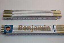 Zollstock mit Namen     BENJAMIN    Lasergravur 2 Meter Handwerkerqualität