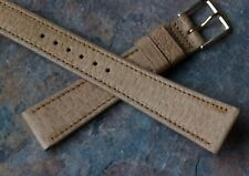 Tan unpadded 19mm all-stitched Genuine Peccary vintage watch band NOS 1960s/70s