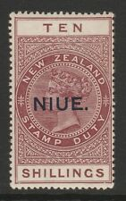 Niue 1918-29 George V 10/- Maroon SG 36 Mint.