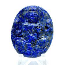 48mm Lapis Lazuli Stone Hand Carving Buddha Statue Natural Crystal Cab Afganist.