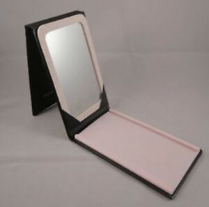 "New Black Pink Mary Kay makeup portable vanity hand mirror 6.25"" x 4"""