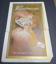 PIEDMONT CIGARETTES CARDBOARD POSTER 1907 PRINTER PROOF ADVERTISING POOR SHAPE
