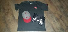 TAMPA BAY BUCCANEERS PLAYERS GAME USED FOOTBALL GLOVES HAT NFL SHIRT LOT