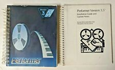 Vtg 90s MACINTOSH Performer Version 3 Midi Sequencer & 3.5 Install Guide Manual