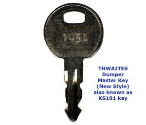 THWAITES LUCAS TEREX KS101 1051 Master Plant Dumper Truck Excavator Digger Key