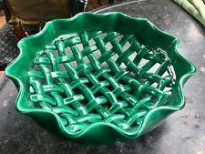 Coupe à fruits ancienne Céramique tressée Vallauris - Vintage ceramic Fruit bowl