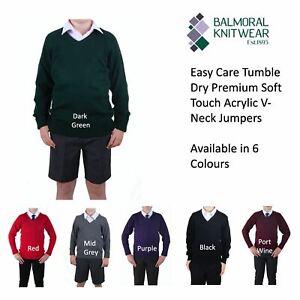 Balmoral Kids Jumper Knit Pullover Classic Fit School Uniform Long Sleeve Jumper