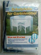SCHUTZHÜLLE FÜR GARTENMÖBEL - Transparent - 160 cm rund , 90 cm hoch - NEU