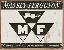 Massey Ferguson Logo Tractors And Combines TIN SIGN Metal Poster Wall Decor Ad
