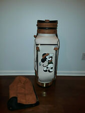 Rare Belding Sports Disney Mickey Mouse Leather Golf Bag 6-Way 90s Displayed !
