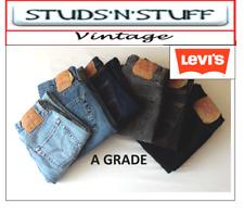 VINTAGE LEVIS 501'S  ( A GRADE ) REGULAR / STRAIGHT FIT JEANS